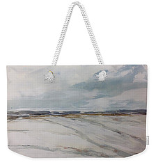 Prairie Field With Distant Hills - Early Winter Weekender Tote Bag