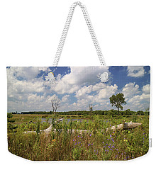 Weekender Tote Bag featuring the photograph Prairie Wetland by Scott Kingery