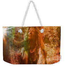 Praise Him With The Harp II Weekender Tote Bag by Anastasia Savage Ealy