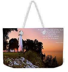 Praise His Name Psalm 113 Weekender Tote Bag by Michael Peychich