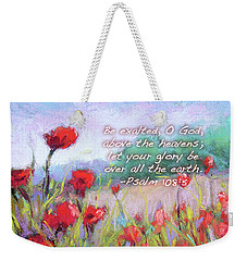 Praising Poppies With Bible Verse Weekender Tote Bag