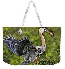 Prancing Heron Weekender Tote Bag by Shari Jardina