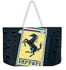 Weekender Tote Bag featuring the digital art Prancing Stallion by Douglas Pittman