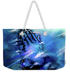 Weekender Tote Bag featuring the digital art Pray by Darren Cannell