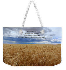 Weekender Tote Bag featuring the photograph Pray Without Ceasing by Lynn Hopwood