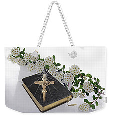 Prayer Book With Flowers Weekender Tote Bag