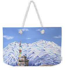 Prayer Flag Weekender Tote Bag by Elizabeth Lock