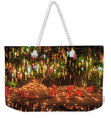 Weekender Tote Bag featuring the photograph Prayers by Pradeep Raja Prints
