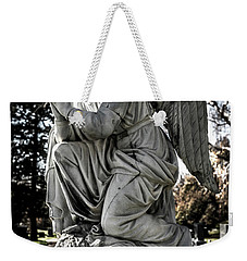Weekender Tote Bag featuring the photograph Praying Cemetery Angel  by Gary Whitton