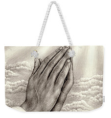 Praying Hands Weekender Tote Bag