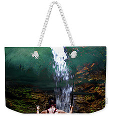 Weekender Tote Bag featuring the photograph Praying To The Spirits by Al Bourassa