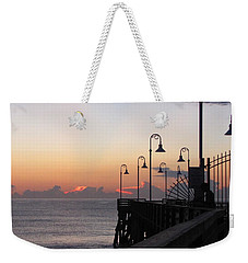 Pre-sunrise On Daytona Beach Pier   Weekender Tote Bag