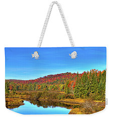 Weekender Tote Bag featuring the photograph Precious Memories At The Green Bridge by David Patterson