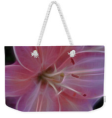 Precious Pink Lily Weekender Tote Bag by Joann Copeland-Paul