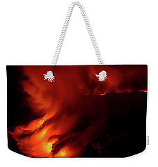 Weekender Tote Bag featuring the photograph Predawn Pouroff by Allen Biedrzycki