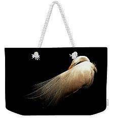Preening Egret Weekender Tote Bag