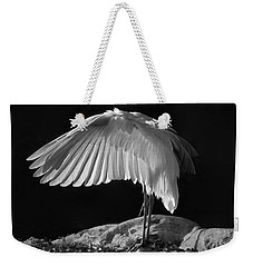 Preening Great Egret By H H Photography Of Florida Weekender Tote Bag