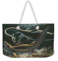 Prehistoric Marine Animals, Underwater View Weekender Tote Bag by American School