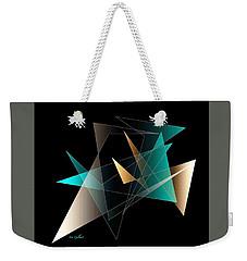 Weekender Tote Bag featuring the digital art Present Day   2 by Iris Gelbart