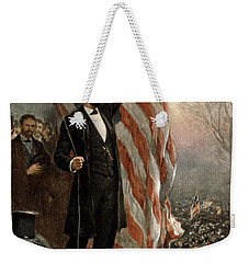 President Abraham Lincoln - American Flag Weekender Tote Bag by International  Images