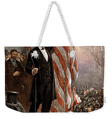 President Abraham Lincoln Giving A Speech Weekender Tote Bag by War Is Hell Store