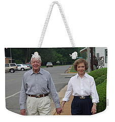 Weekender Tote Bag featuring the photograph President And Mrs. Jimmy Carter by Jerry Battle