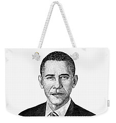 President Barack Obama Graphic Black And White Weekender Tote Bag by War Is Hell Store