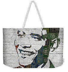 President Barack Obama Portrait United States License Plates Edition Two Weekender Tote Bag by Design Turnpike