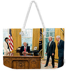 President Donald Trump Weekender Tote Bag by Charles Shoup