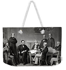 President Lincoln And His Cabinet Weekender Tote Bag by War Is Hell Store