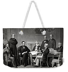 President Lincoln And His Cabinet Weekender Tote Bag