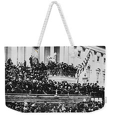President Lincoln Gives His Second Inaugural Address - March 4 1865 Weekender Tote Bag by International  Images
