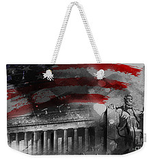 Weekender Tote Bag featuring the painting President Lincoln  by Gull G