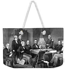President Lincoln His Cabinet And General Scott Weekender Tote Bag by War Is Hell Store