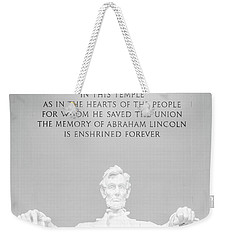 President Lincoln Weekender Tote Bag