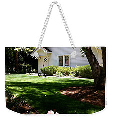 Weekender Tote Bag featuring the photograph President Nixon Home  Richard Nixon by Iconic Images Art Gallery David Pucciarelli