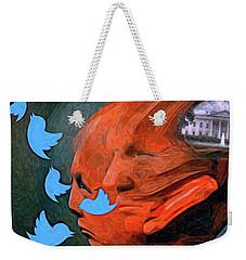President Of Twitter Weekender Tote Bag