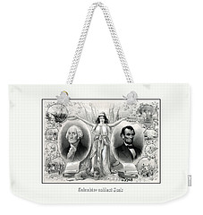 Presidents Washington And Lincoln Weekender Tote Bag by War Is Hell Store