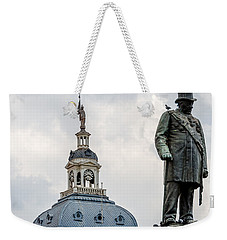 Weekender Tote Bag featuring the photograph Pretoria Church Square by Steven Richman
