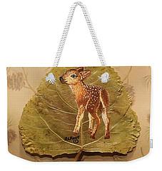 Pretty Baby Deer Weekender Tote Bag