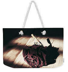 Pretty Dead Rose Resting In The Warm Sun Weekender Tote Bag