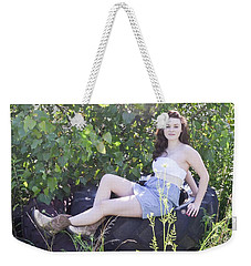 Pretty Farm Girl Weekender Tote Bag