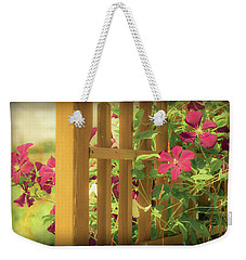 Pretty Flower Garden Weekender Tote Bag