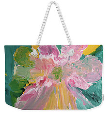Weekender Tote Bag featuring the painting Pretty In Pastels by Karen Nicholson