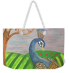 Pretty In Peacock Weekender Tote Bag