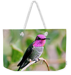 Pretty In Pink Anna's Hummingbird Weekender Tote Bag