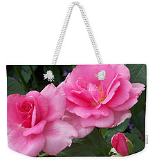Pretty In Pink Duo Weekender Tote Bag by Catherine Gagne