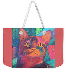 Pretty Kitty Weekender Tote Bag by Nancy Jolley
