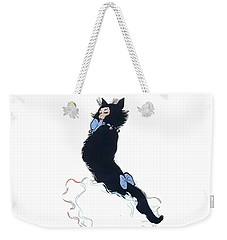 Weekender Tote Bag featuring the digital art Pretty Kitty by ReInVintaged
