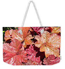 Weekender Tote Bag featuring the photograph Pretty Leaves by Stephanie Moore